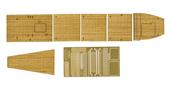 1/700 Gup104 日本海軍航空母艦 加賀 三段式飛行甲板時 専用木甲板シール