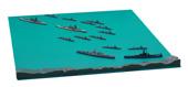 1/3000 軍艦12 第三次ソロモン海戦セット(比叡/霧島/サウスダコタ/ワシントン/水偵付き)