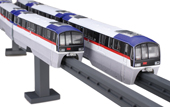 1/150 STR17 東京モノレール2000形 旧塗装 6両編成ディスプレイモデル(彩色済み)