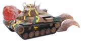 TM5EX-1 九七式中戦車 チハ 57㎜砲塔・前期車台 特別仕様(エフェクトパーツ付き)
