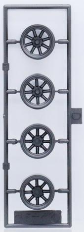 1/24 W15 RSワタナベ&スリックタイヤ 15インチ