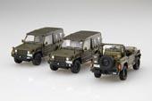 1/72 ML12EX-1 陸上自衛隊 1/2tトラック(部隊用) 特別仕様(ディスプレイ用彩色済み展示台座付き)