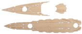 1/700 特37EX-102 日本海軍戦艦 比叡用 木甲板シール(w/艦名プレート)