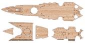1/700 特39EX-102 日本海軍航空戦艦 伊勢用 木甲板シール(w/艦名プレート)